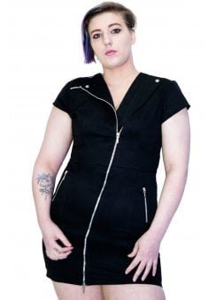 Abigail Plus Size Biker Dress