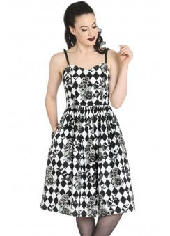 Hauntly Bats & Roses 50s Dress