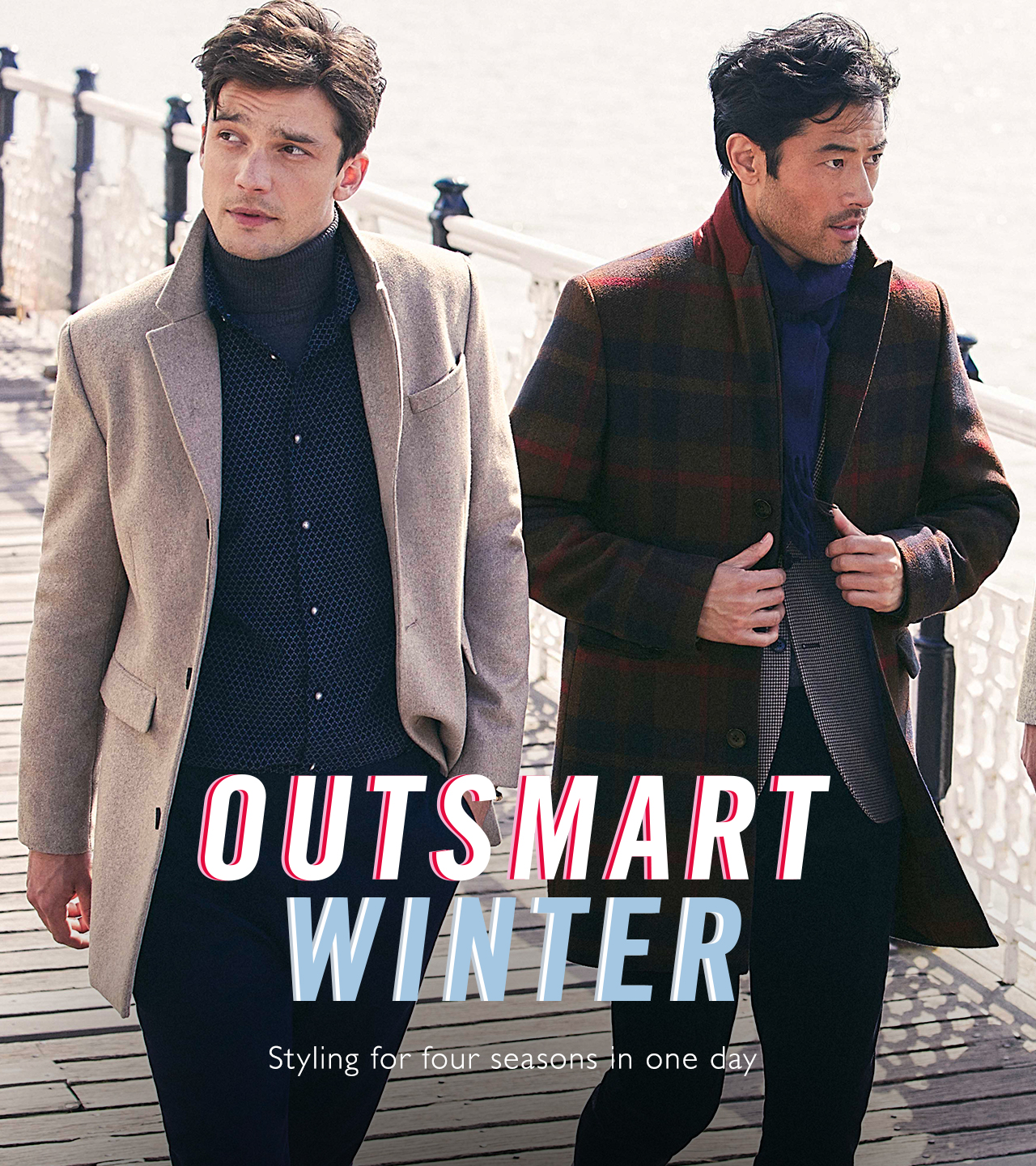 Outsmart winter. Styling for four seasons in one day