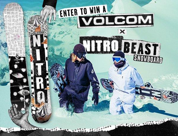 Win a Volcom x Nitro Beast Snowboard