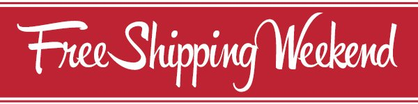 Free Shipping on your Order!