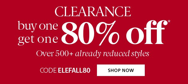 Clearance Buy One Get One 80% Off