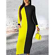 Women's Basic Sheath Dress - Color Block ...
