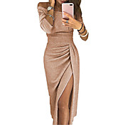 Women's Sophisticated Sheath Dress - Soli...