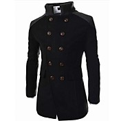 Men's Daily / Work Fall / Winter Long Coa...