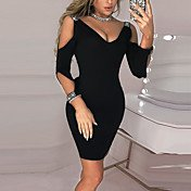 Women's Daily Wear Basic Sheath Dress - S...