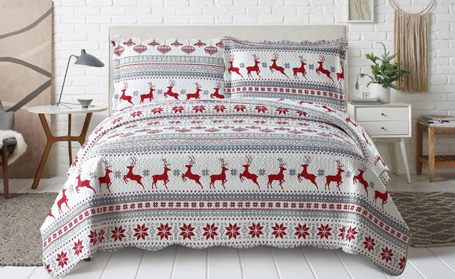 3-Piece Christmas Quilt Sets
