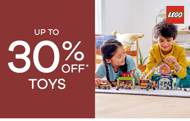 Up to 30% off toys!*