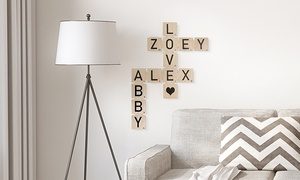 Personalized Wood Scrabble Tiles