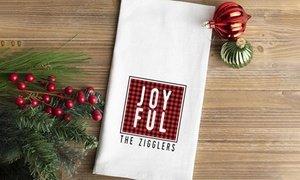 Personalized Christmas Tea Towel