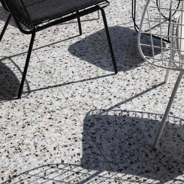 An example of terrazzo flooring