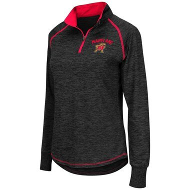 Maryland Terrapins Colosseum Women's Bikram 1/4 Zip Long Sleeve Jacket - Black