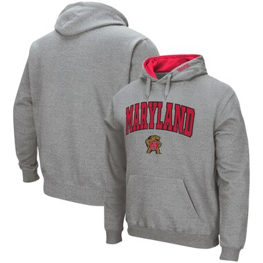 Maryland Terrapins Colosseum Arch & Logo Pullover Hoodie - Heathered Gray