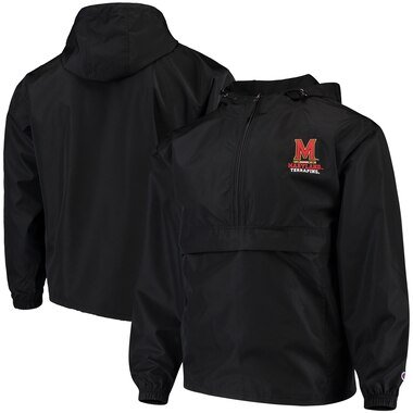 Maryland Terrapins Champion Packable Jacket - Black