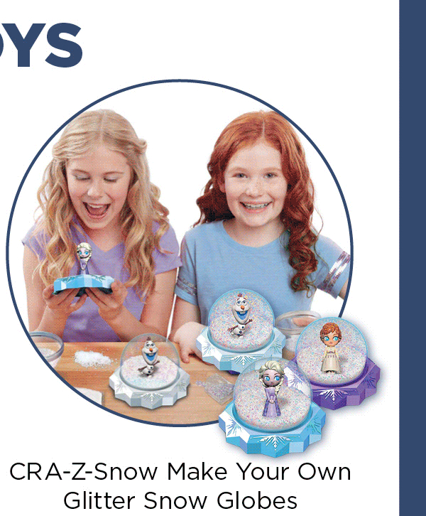 NEW TOYS - CRA-Z-Snow Make Your Own litter Snow Globes