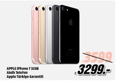 APPLE iPhone 7 32GB Akıllı Telefon Apple Türkiye Garantili 3599TL yerine 3299TL