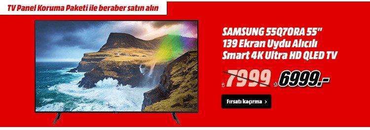 """SAMSUNG 55Q70RA 55"""" 139 Ekran Uydu Alıcılı Smart 4K Ultra HD QLED TV 7999TL yerine 6999TL"""