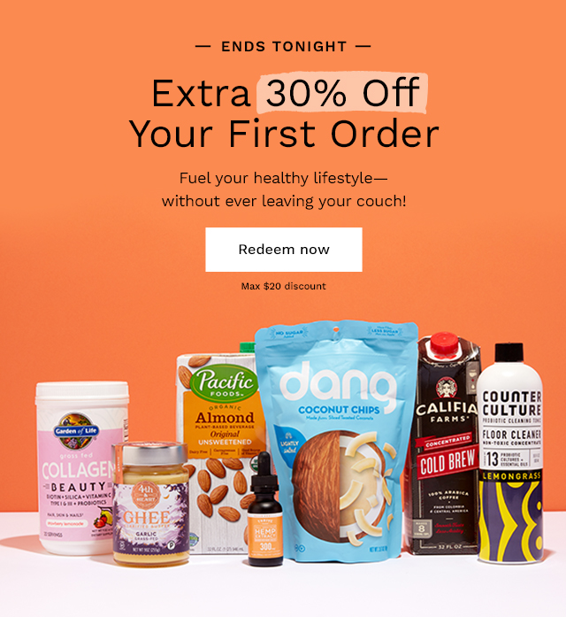 Ends Tonight: Extra 30% Off Your First Order. Fuel your healthy lifestyle- without ever leaving your couch! Redeem now. Max $20 discount.