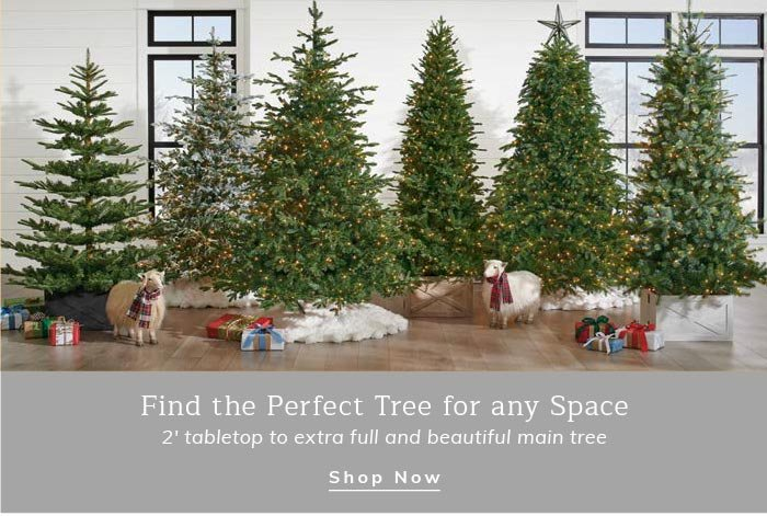 Find the Perfect Tree for any Space 2′ tabletop to extra full and beautiful main tree