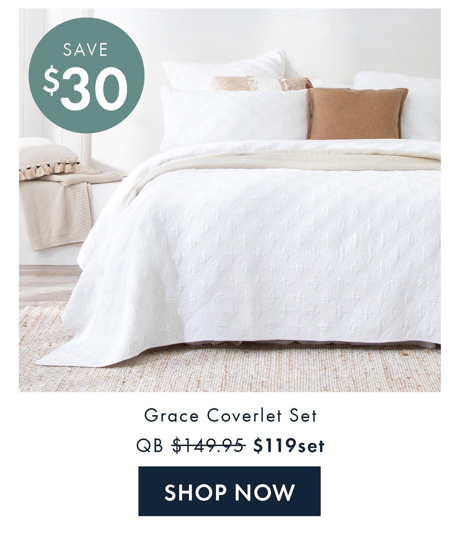 Save $30 | Grace Coverlet QB $119set | Shop Now