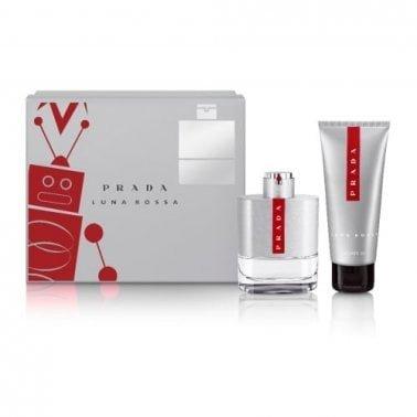 Prada Luna Rossa Homme - 100ml EDT Gift Set With 100ml Shower gel.