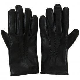 Grifin Leather Gloves, Black