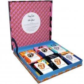 6-Pack Rolling Stones Multi Tongue Logo Socks Gift Box