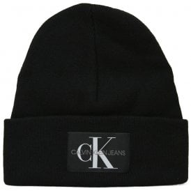 Jeans Knitted Cashmere Wool Beanie Hat, Black