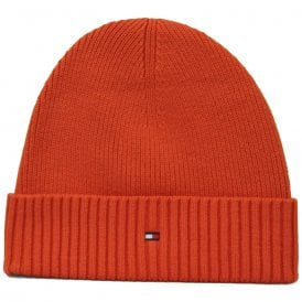 Pima Cotton Cashmere Beanie Hat, Red Clay