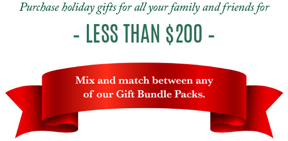 Purchase holiday gifts for all your family and friends for