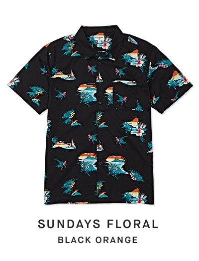 Sundays Floral (black orange)