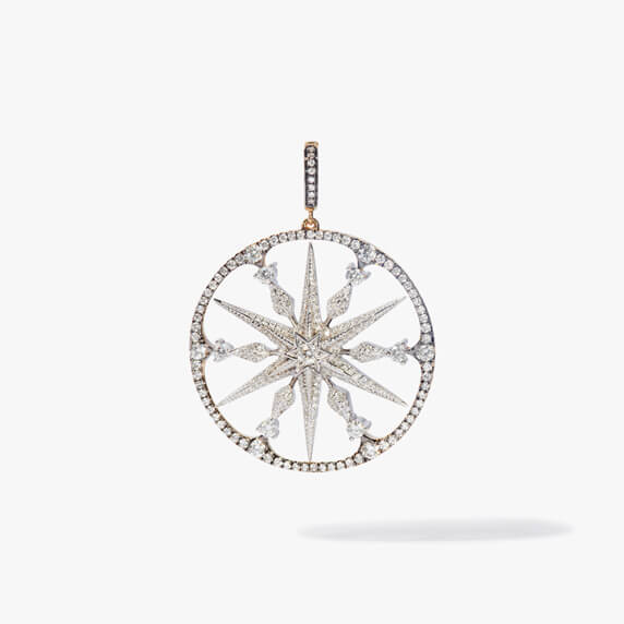 Mythology 18ct Mixed Gold Diamond Large Star Pendant