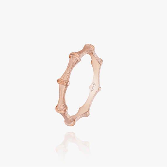 Bamboo 18ct Rose Gold Ring