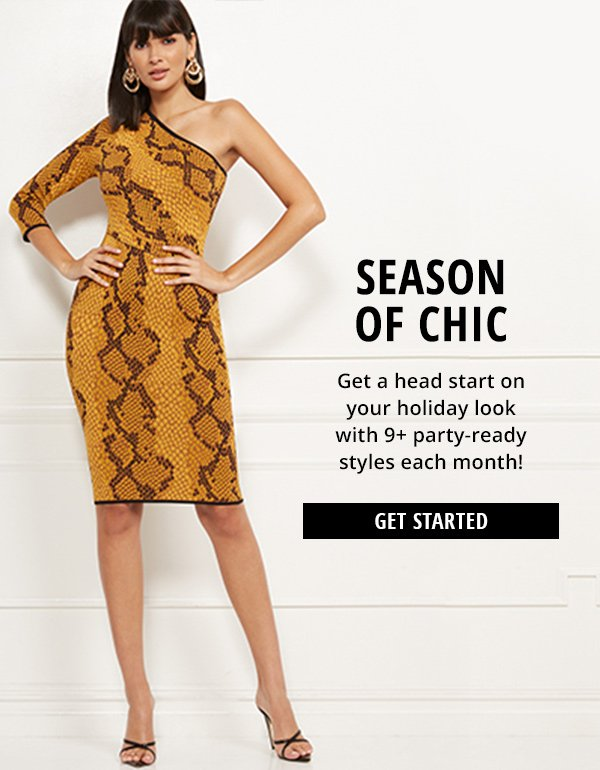 Get a head start on your holiday look with 9+ party-ready styles each month!