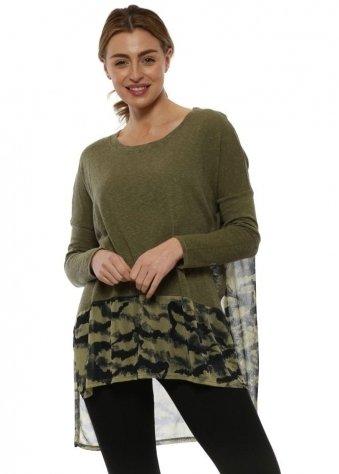 Sandy Olive Slub Knit Winter Tie Dye Top
