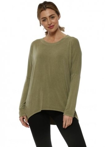 Kammy Olive Long Sleeved Tunic Top