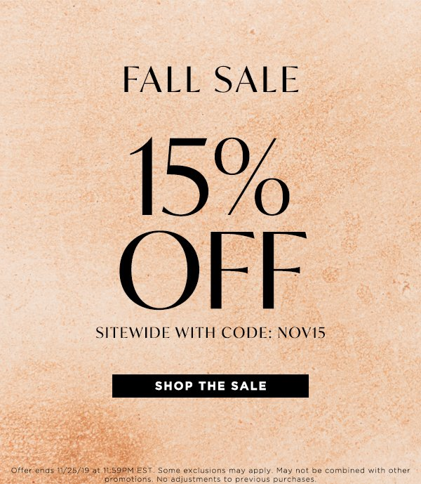 Shop Now: 15% off your purchase