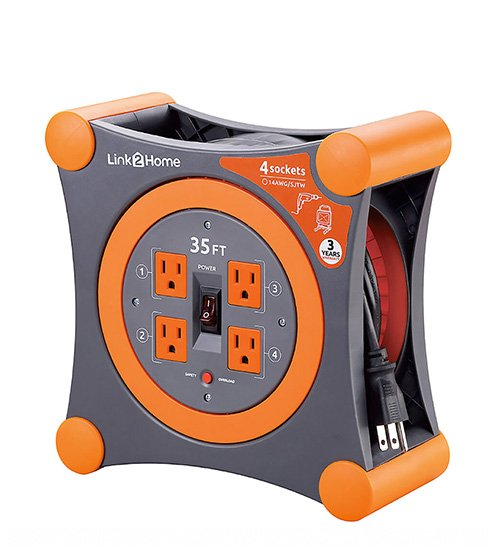 Link2Home Extension Cord with 4 Power Outlets