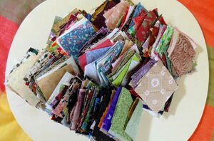 It's time to grab all of your leftover fabric scraps (cute decor idea!)