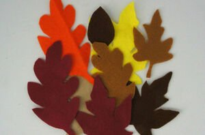 Cut out a few leaves and enjoy fall all year long