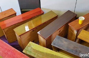 She paints every drawer a different color for this whimsical update