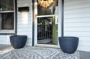 Put 2 pots outside your door for beautiful accents that will come back in spring