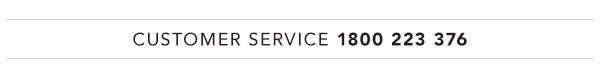 Customer service call 1800 223 376