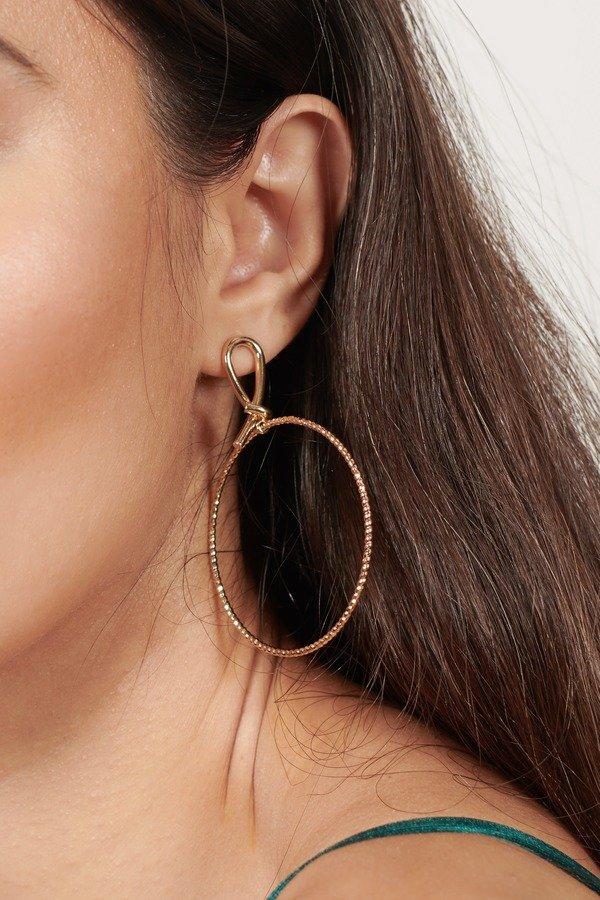 Infinity Gold Metal Hoop Earrings