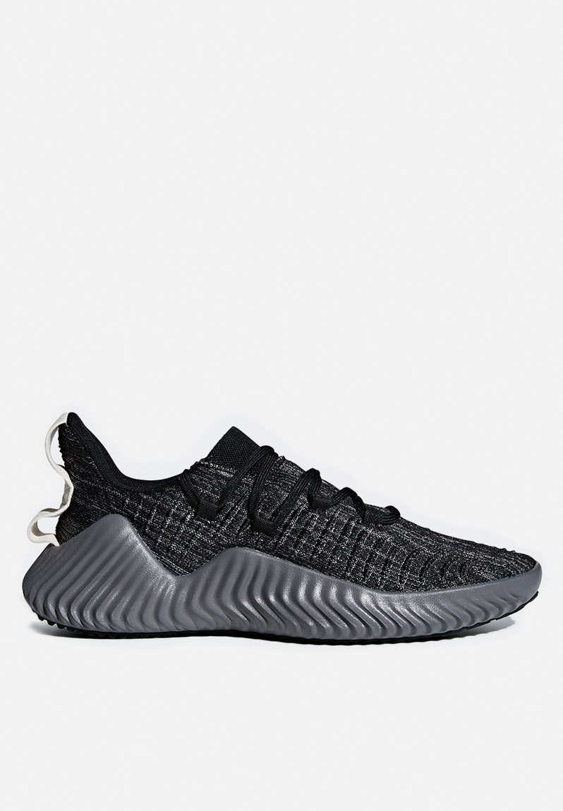Alphabounce trainer - black, grey & white