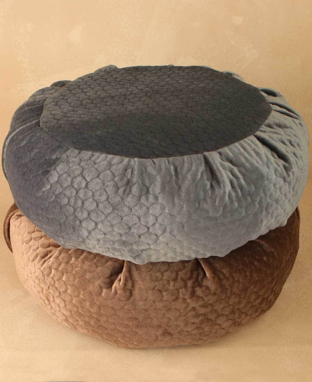 Image of Luxe Quilted Zafu Meditation Cushion in Honeycomb