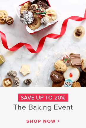 Save up to 20% off The Baking Event