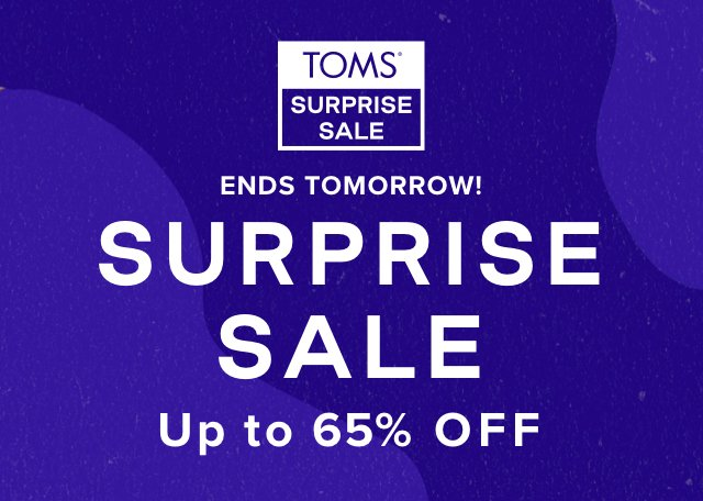 Surprise Sale up to 65 off