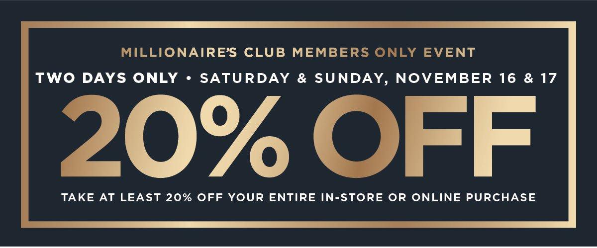 20% Off Member Sale
