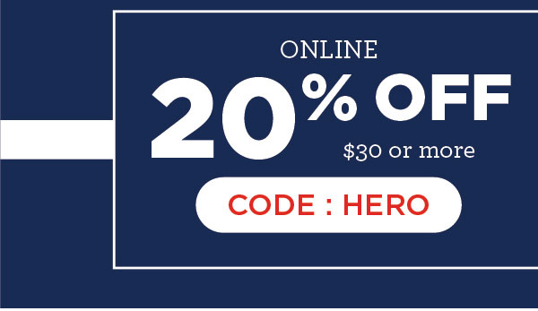 20% Off $30